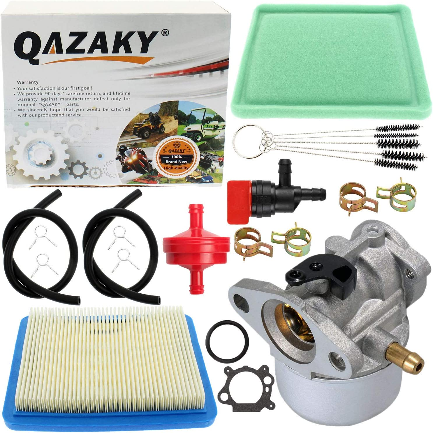 QAZAKY Carburetor Replacement for Briggs /& Stratton 497314 497347 497410 497586 498170 498254 498255 498966 499617 692648 693909 694202 698444 790821 799868 799872 14111 122000 4hp-7hp 6.5hp 6.75hp