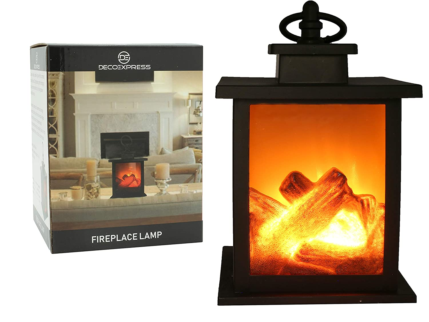 Fireplace Lamp Led Flame Effect Log Fire Place Ornaments Home Decor F&F Stores