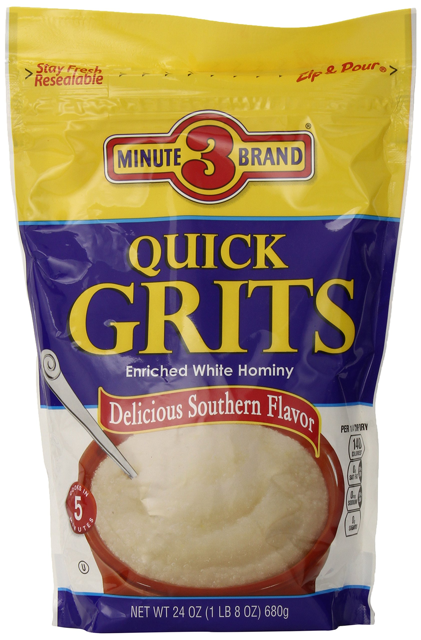 3 Minute Grits, 24 Ounce (Pack of 12)