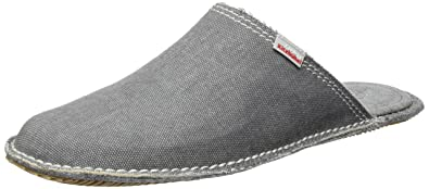 Living Kitzbühel Unisex-Erwachsene Pantoffel Sterne Starwalk Pantoffeln, Grau (Grau), 45 EU