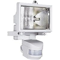 Smartwares ES120W Luz de seguridad, Sensor de movimiento, Halógena, 2250lm, Blanca