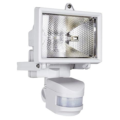 Smartwares ES120W Luz de seguridad, Sensor de movimiento, Halógena, 2250 lm, Blanca