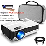"""FunLites 4600lux Portable Video Projector,Supported 1080P Outdoor Movie Projector with 200"""" Display 50,000 Hrs, LED HD Projector Compatible with Fire TV Stick,PS4,HDMI,VGA,AV and USB(Latest Upgrade)"""