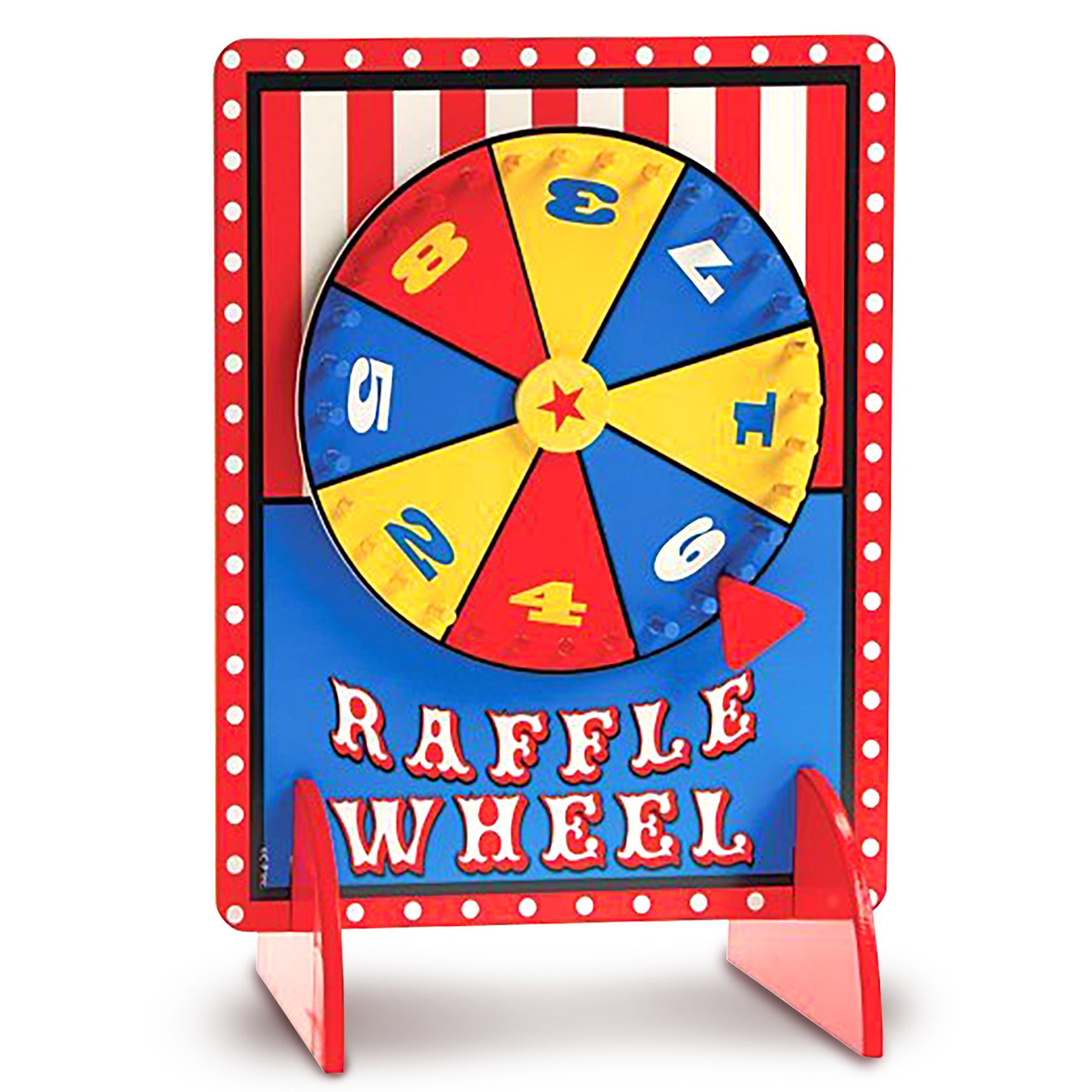 Gamie Tabletop Spinning Raffle Wheel with Stand by Premium Quality Wood Spinning Carnival Wheel | Tabletop Prize Spinner Wheels for Boys and Girls, Kids' Parties, Classroom & More