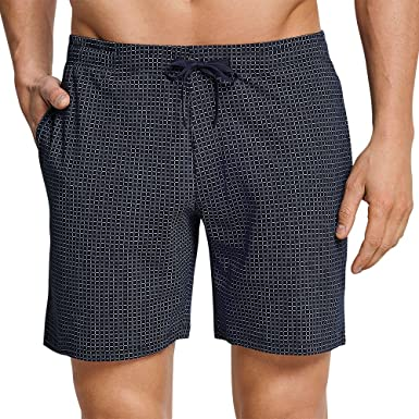 X-Large Schiesser Herren Bermuda Schlafanzughose Blau Blau
