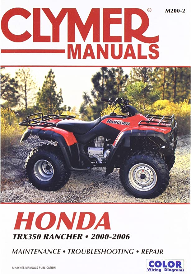 2002 honda 350 rancher wiring diagram amazon com clymer service manual for 00 06 honda trx350r4x4  clymer service manual for 00 06 honda