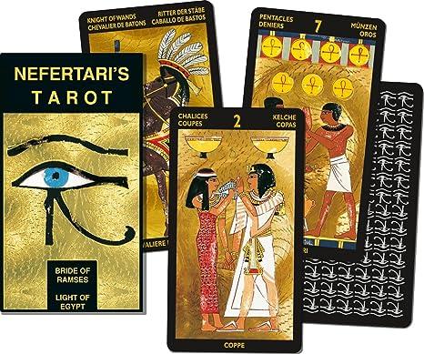Scarabeo Lo Cartes De Tarot Nefertari De Réparation Amazonfr