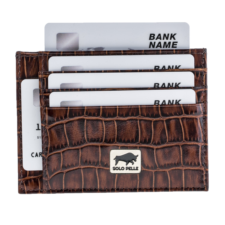 Solo Pelle Kartenetuibill Aus Echtem Leder Geld Noten