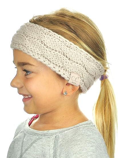 C.C Children s Kids  Winter Warm Cable Knit Fuzzy Lined Ear Warmer Headband 30f28f9df64