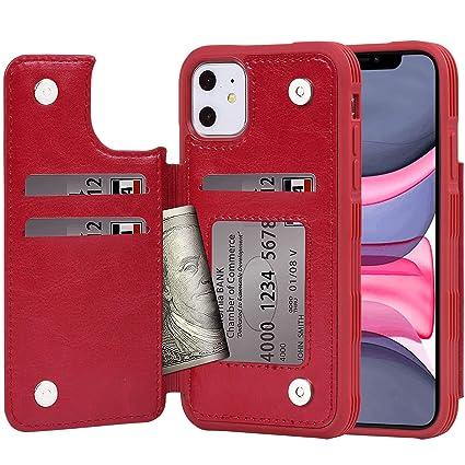 Amazon.com: Arae - Funda tipo cartera para iPhone 11 (piel ...