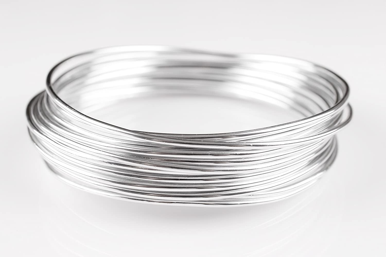 Goodwei Creacraft Schmuckdraht Silber 10 Meter, Aluminiumdraht (2mm ...
