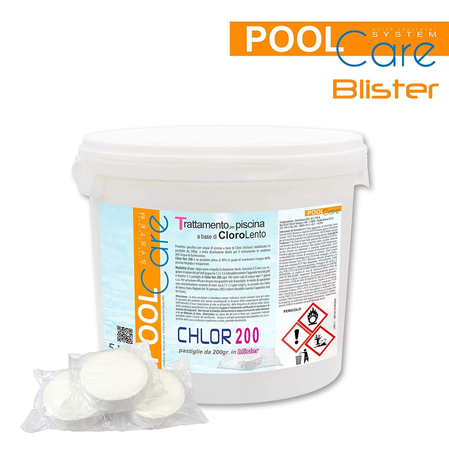 Cloro Pastillas Piscina Pool Care 200 5 kg. Oferta ...