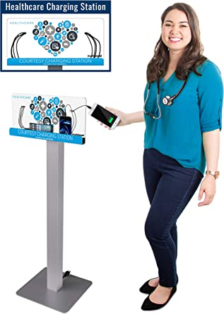 Charges 4 Phones at Full Speed Affordable Option for Dorm Rooms Library Tables KwikBoost Customizable Mini Charging Hub Table Top Station Waiting Rooms /& More Patient Rooms