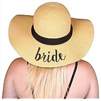 90cb015c642 Funky Junque Women s Bold Cursive Embroidered Adjustable Beach Floppy Sun  Hat
