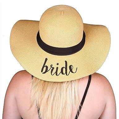 0816879a5d9 H-2017-B Funky Junque Bridal Sun Hat - Bride at Amazon Women s ...