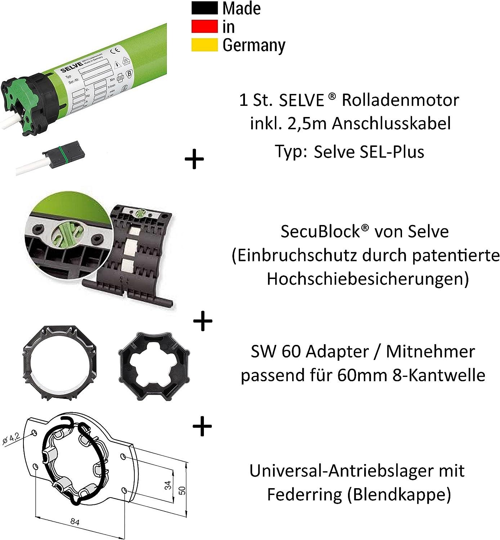 Selve SEL-PLUS 2//50 Rolladenmotor Rohrmotor Hinderniserkennung RollladenSW60