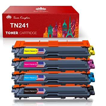 Toner Kingdom 4 paquete TN-241 TN-245 cartucho de tóner Compatible para Brother DCP-9020CDW HL-3140CW HL-3150CDW HL-3170CDW MFC-9140CDN MFC-9330CDW ...
