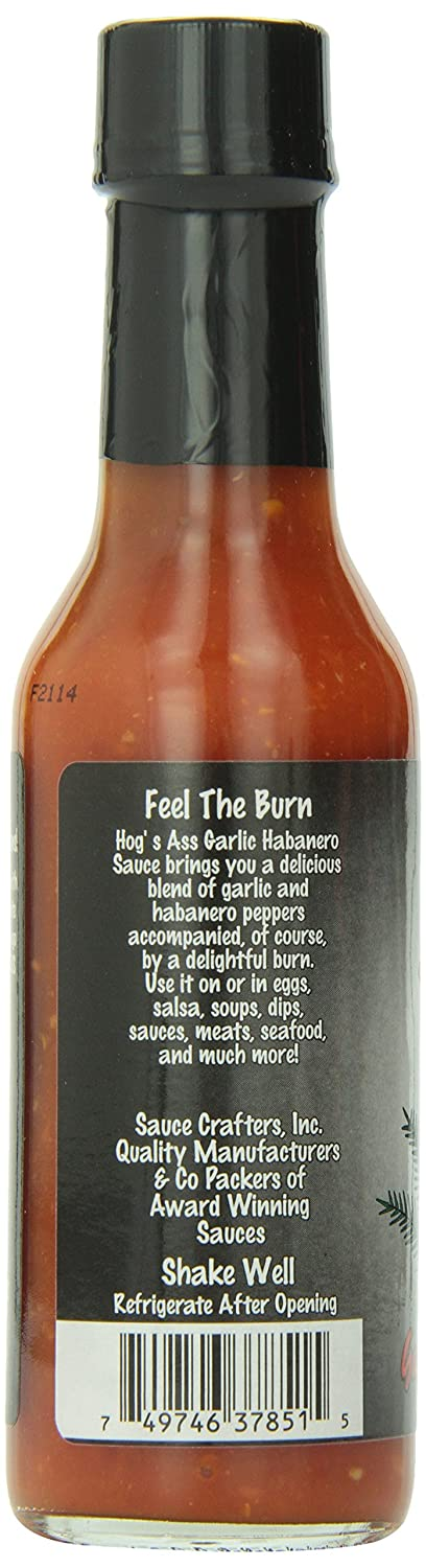 Amazon.com : Hogs Ass Garlic Habanero Hot Sauce, 5oz : Grocery & Gourmet Food