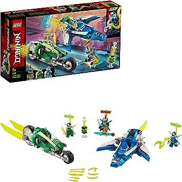 Oferta amazon: LEGO Ninjago - Vehículos Supremos de Jay y Lloyd, Set de Construcción con Coche y Avión de Juguete, Inspirado en la Carrera Prime Empire, Recomendado a Partir de 7 años (71709)