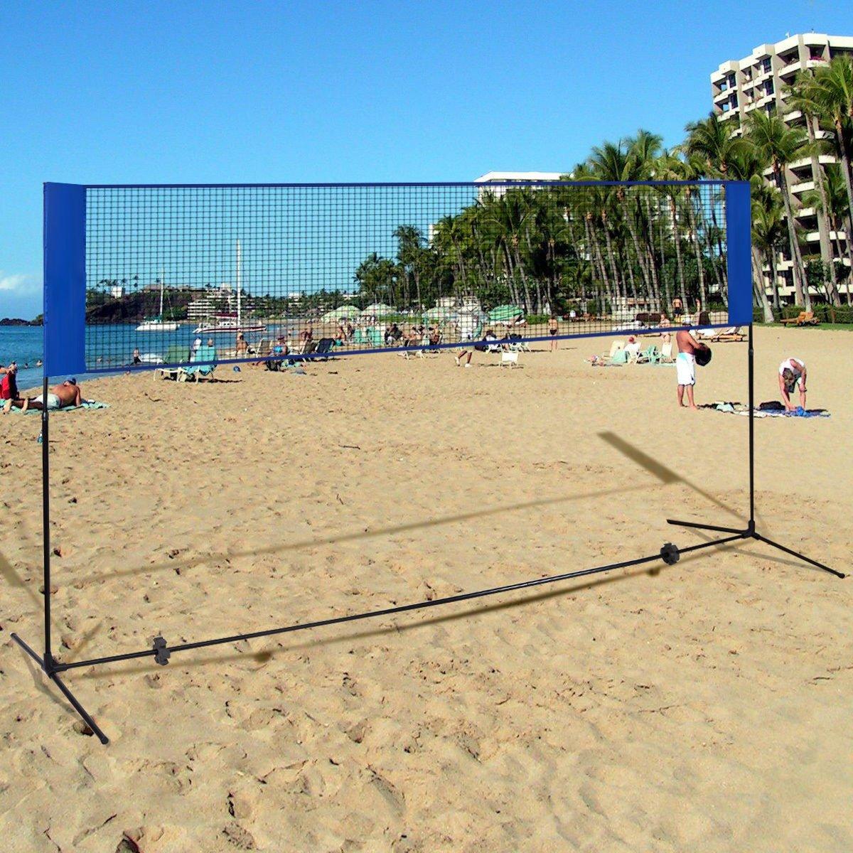 amazon com goplus 10 u0027x5 u0027 portable badminton beach volleyball