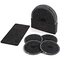 Absorbent Felt Fabric Table Coasters for Drinks Set of 10 Pieces for Cup and Cellphone,Suitable for Any Furniture Table…