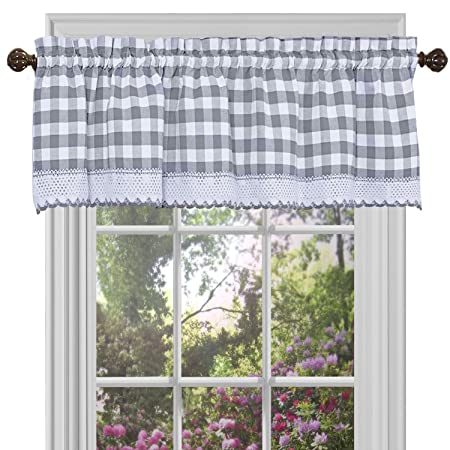 blue scalloped gray valances ellis ballard valance kitchen lined