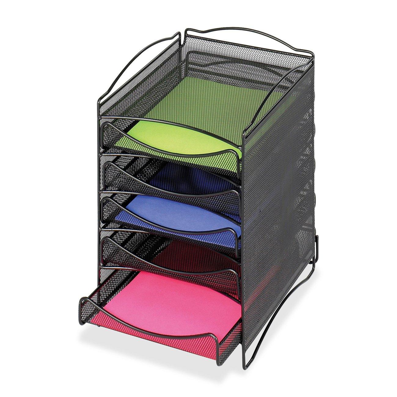 Safco Products Company SAF9432BL Desktop-Organizer-Adjustable-10-.25in.x12-.63in.x15-.13in -. Schwarz
