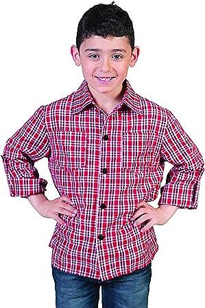 erdbeerclown – Rojo Cuadros Camisa Disfraz Para Niños, 116 – 170, 6 – 15 Años, multicolor: Amazon.es: Juguetes y juegos