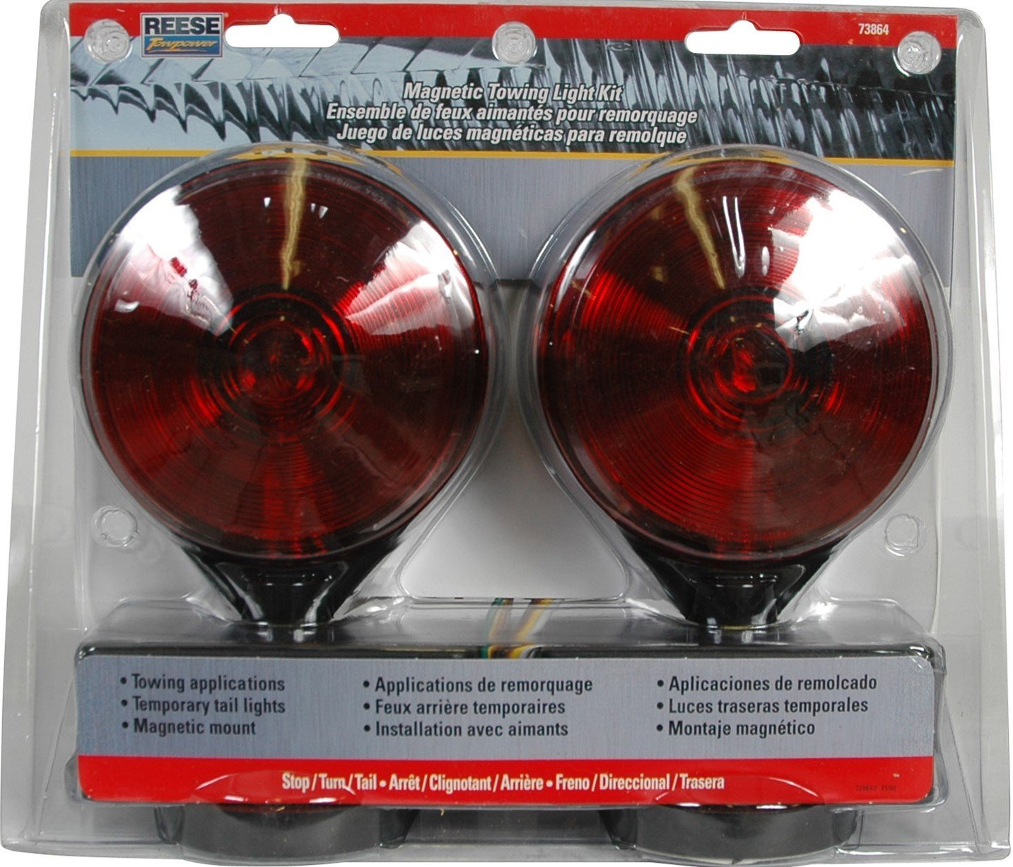 Reese 73864 Magnetic Towing Light Kit