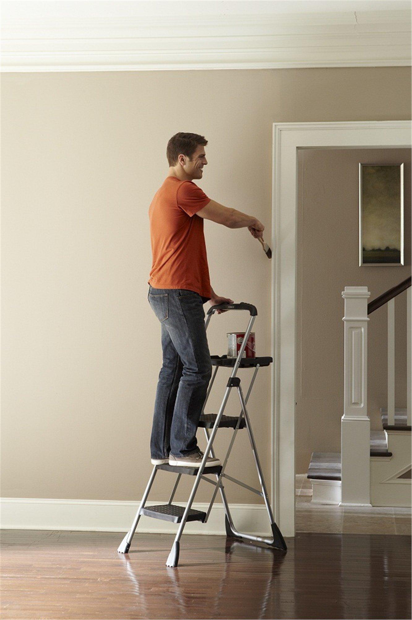 New Cosco Three Step Ladder Max Steel Work Platform Ebay