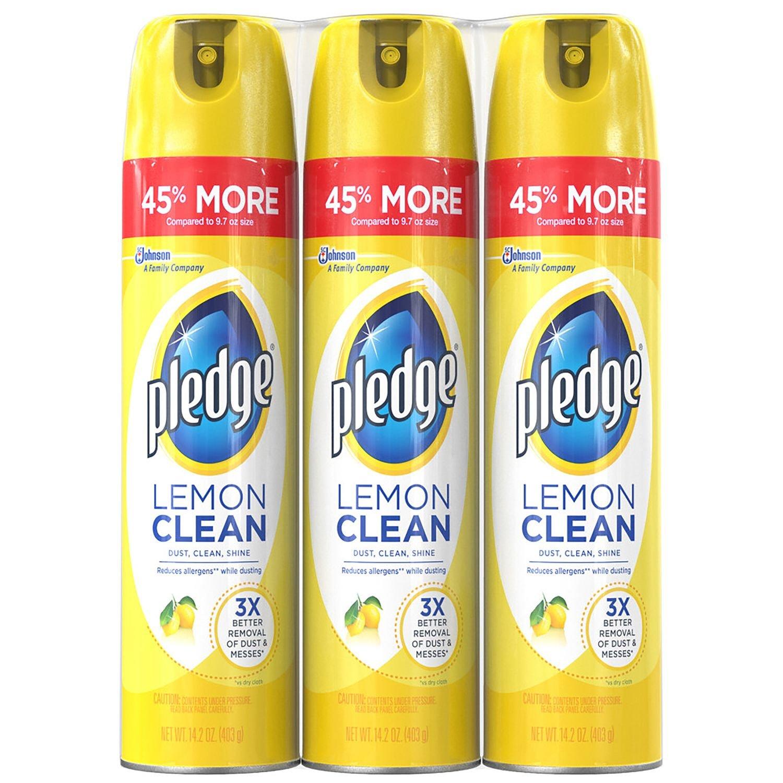 Pledge Furniture Spray, Lemon (14.2oz., 3pk.)