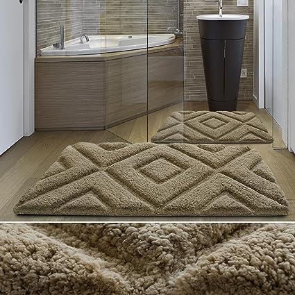 casa pura Tappeto da bagno moderno linea Luxury Jenna | Beige ...