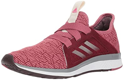 competitive price 39eda 89879 adidas Womens Edge Lux Running Shoe, Noble MaroonNight RedShock Pink,