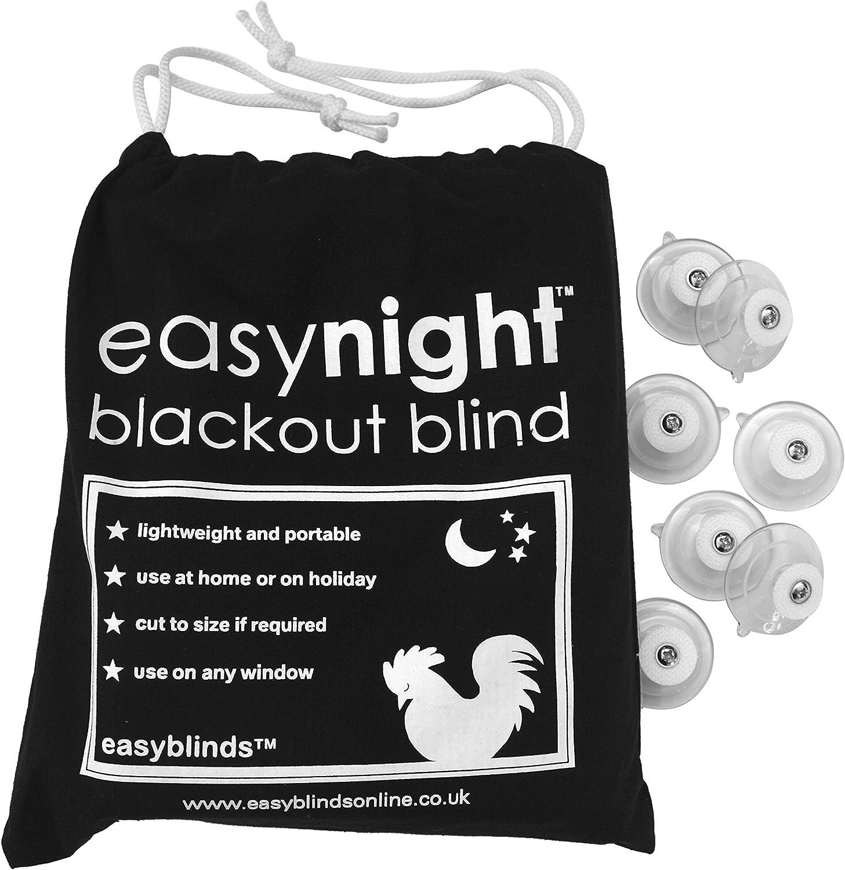 easyblinds Easynight Portable Travel Blackout Blind, Shade (Extra Large 90