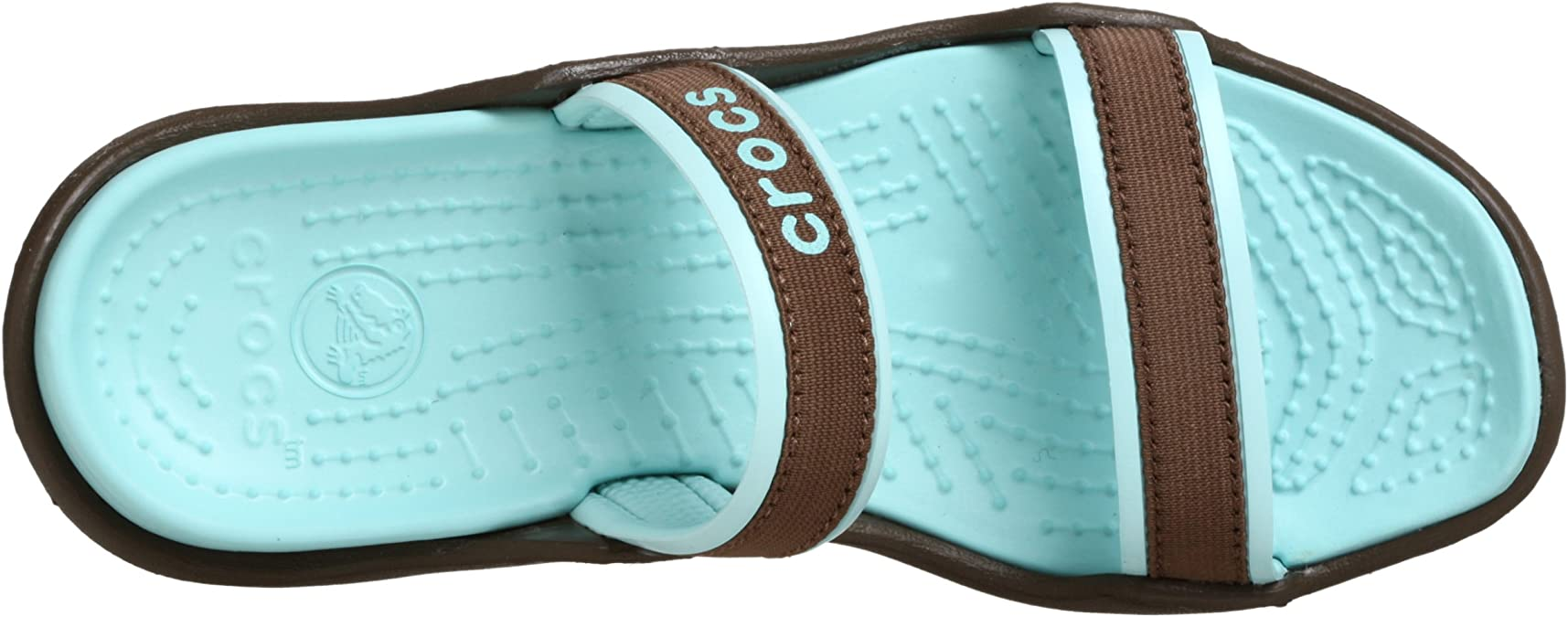 Patra Crocs Slip On Sandals chocolatye seafoam