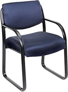 Boss Office Products Fabric Guest Chair in Blue