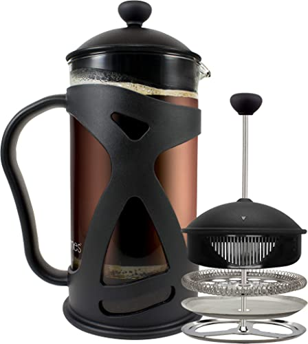 KONA-French-Press-Coffee-Maker-With-Reusable-Stainless-Steel-Filter