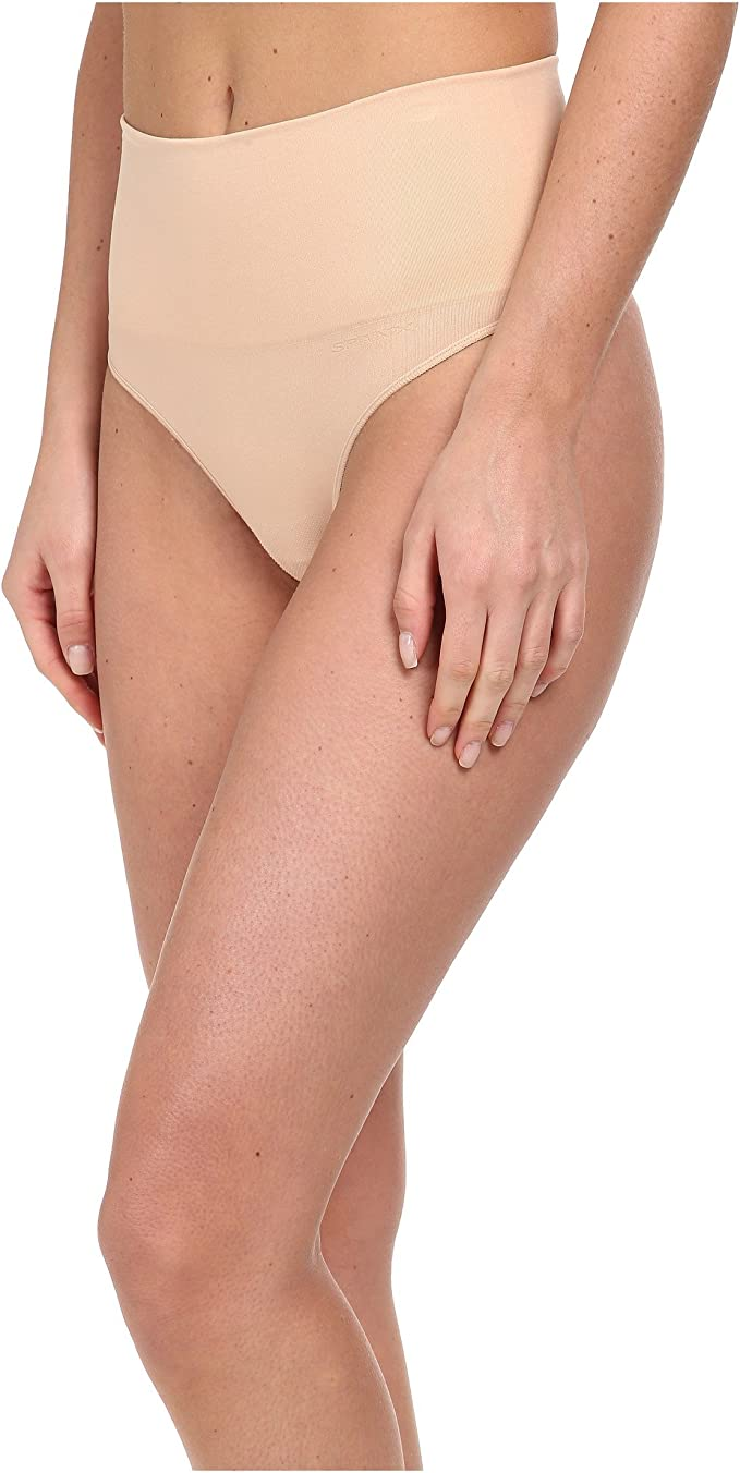 New Spanx Assets Everyday Shaping Thong Panties 10150R Nude or Black Womens S,M
