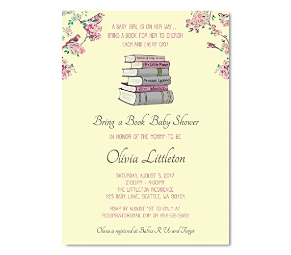Amazon bring a book baby shower invitation storybook baby bring a book baby shower invitation storybook baby shower invitations girl baby shower invitations filmwisefo
