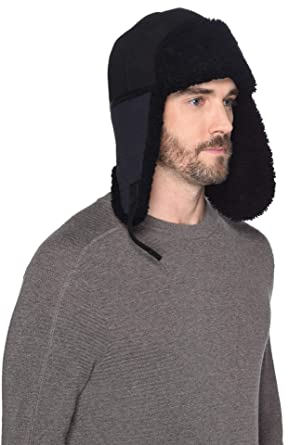 6849557277bbe UGG Mens Mixed Media Trapper Hat at Amazon Men s Clothing store