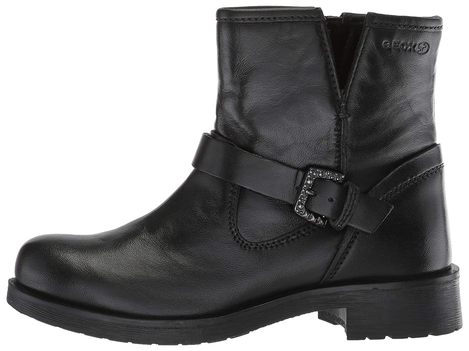 Amazon.com | Geox Womens Rawelle 1 Buckle Biker Boot Ankle | Ankle & Bootie