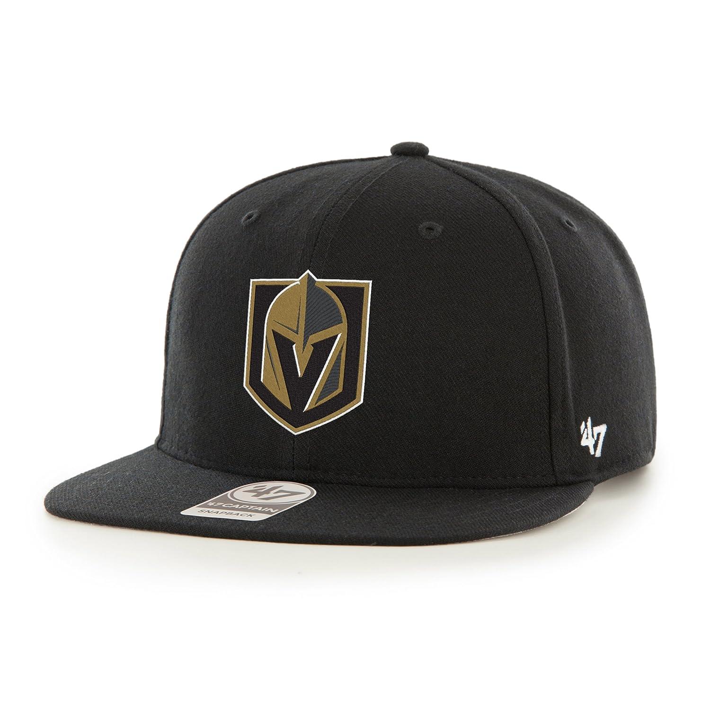 Amazon.com   Vegas Golden Knights Black No Shot Captain Snapback Adjustable  Hat   Cap   Sports   Outdoors 8c4f29317