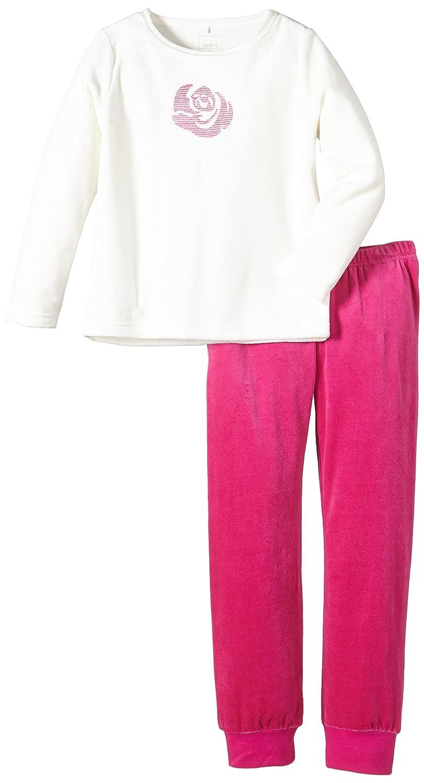 NAME IT Velin Kids Nightset Velour - Pijama para niños, color multicolor (cloud dancer), talla 5 años (110 cm): Amazon.es: Ropa y accesorios