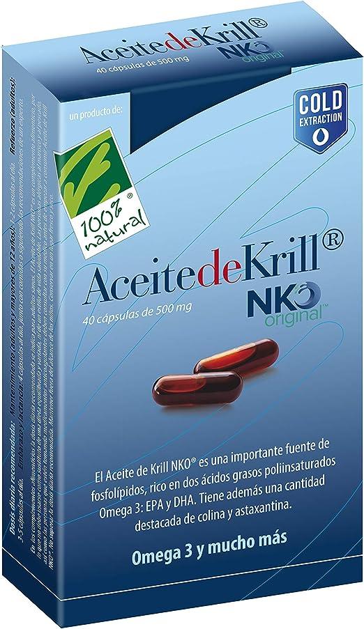 100% Natural ACEITE DE KRILL NKO 40 caps. - 50 gr: Amazon.es ...