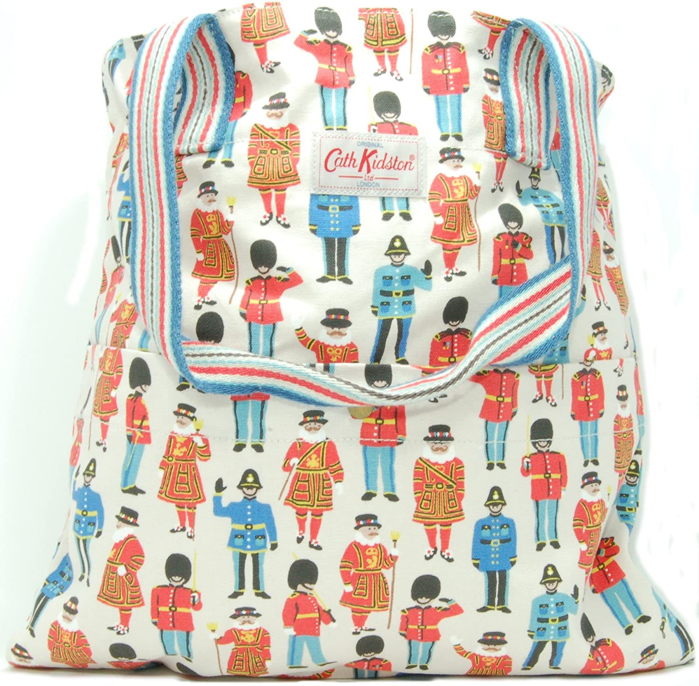 Cath Kidston Washed Cotton Tote Bag in 'Guards & Friends' Design - Cream