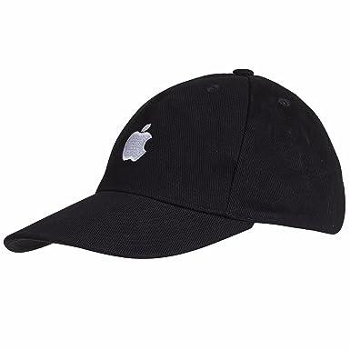 Apple Baseball Cap Logo - Black - One Size  Amazon.co.uk  Clothing 4ed91bd7529
