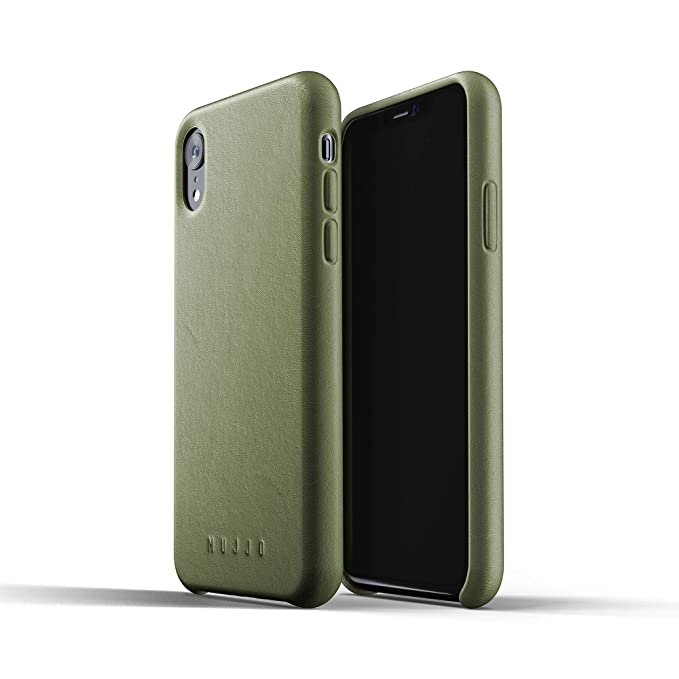 separation shoes 27f15 7109d Mujjo Full Leather Case Compatible with iPhone XR | Real Leather with  Natural Aging Effect, Covered Buttons, 1MM Protective Screen Bezel,  Japanese ...