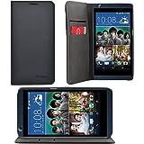 iProtect HTC Desire 626G Kunstleder Tasche im Bookstyle schwarz Schutzhülle mit integriertem Magnetverschluss