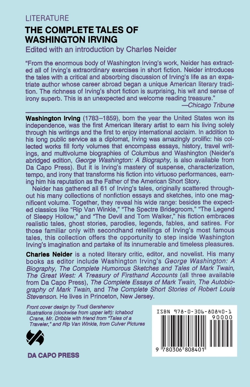 the complete tales of washington irving washington irving the complete tales of washington irving washington irving charles neider 9780306808401 com books