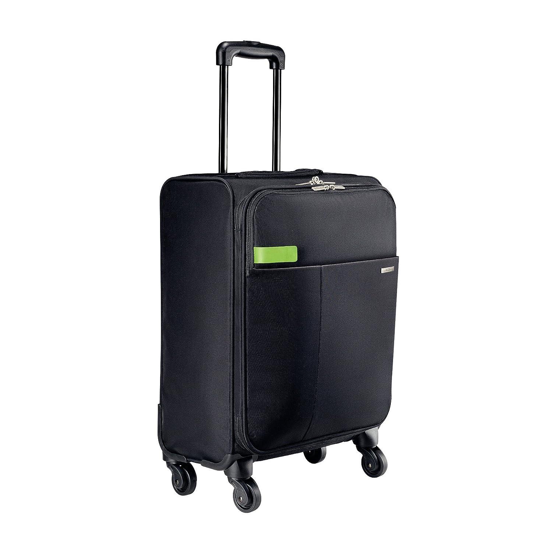 Leitz Complete 4-Rollen Handgepäck Trolley Smart Traveller, Schwarz, 62270095